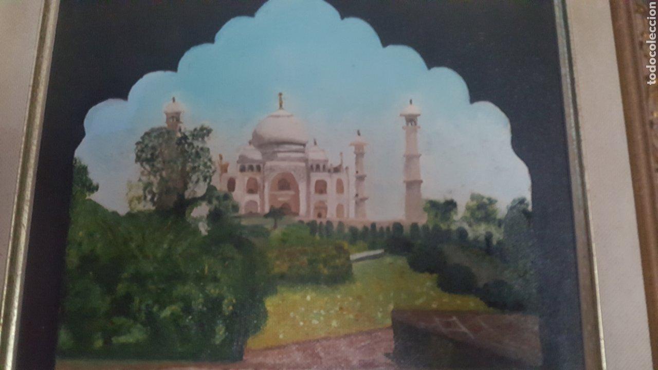 Arte: Precioso cuadro de Palacio Árabe realizado en Oleo sobre lienzo con firma de autor. Ver descripción - Foto 4 - 278615093
