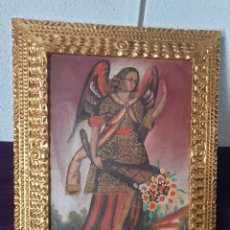 Arte: ANTIGUO CUADRO MOTIVO RELIGIOSO ÁNGEL CUZQUEÑO ÓLEO SOBRE LIENZO. Lote 278760083