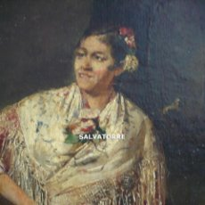 Arte: ESCUELA VALENCIANA.JACINTO CAPUZ.VALENCIA 1857-ARGENTINA 1896.SAN JUAN.OLEO SOBRE LIENZO 1889.MANTON. Lote 278761233