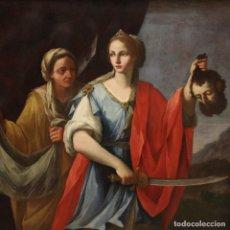 Arte: ANTIGUA PINTURA ITALIANA JUDITH Y HOLOFERNES DEL SIGLO XVIII. Lote 278820923