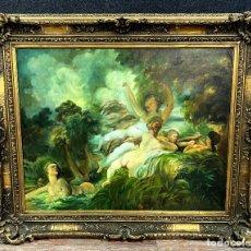 Arte: ÉCOLE FRANÇAISE VERS 1940/50 : TRÈS GRANDE HUILE SUR TOILE. Lote 278935208