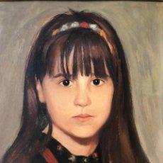Arte: RETRATO DE NIÑA - ORIGINAL 1960'S - FIRMADO. Lote 278978263
