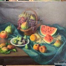 Arte: ANTONIO VIDAL ROLLAND 1889-1970, BODEGÓN SOBRE TELA SIN MARCO, 81X65 CM.. Lote 279346903