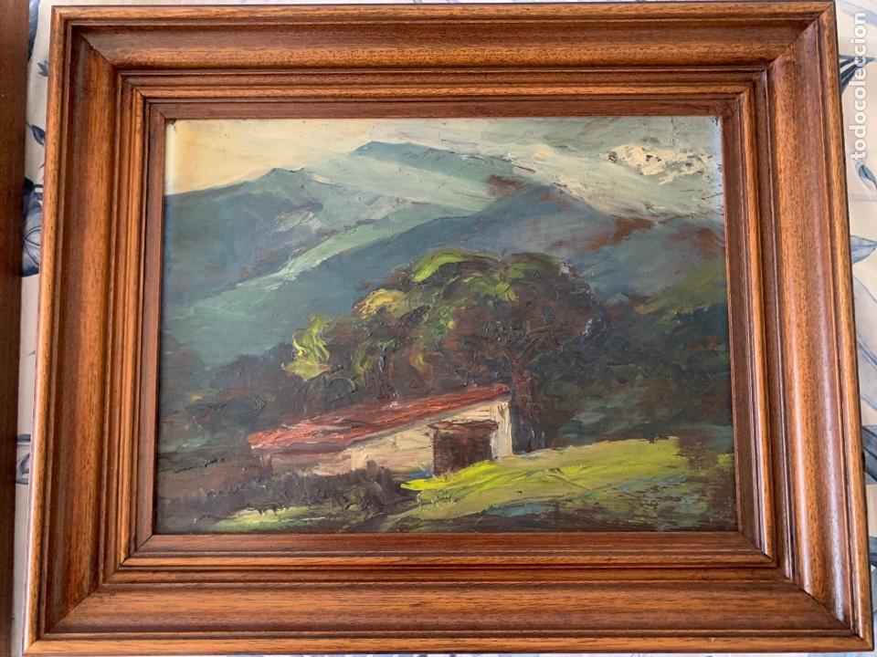 2 CUADROS AL ÓLEO LIENZO Y TABLA (Arte - Pintura - Pintura al Óleo Moderna sin fecha definida)