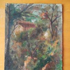 Arte: PAISAJE DE FRANCISCO GIMENO ARASA. OLEO SOBRE TELA DE 27,50X18,00 CM. FIRMADO. CA 1900.. Lote 280707028
