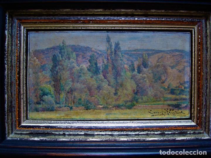 Arte: PAISAJE RIBERA DEL EBRO PINTURA SOBRE TABLA.AÑO 1950. - Foto 3 - 281790843