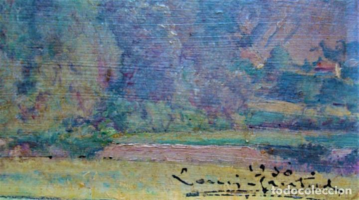 Arte: PAISAJE RIBERA DEL EBRO PINTURA SOBRE TABLA.AÑO 1950. - Foto 4 - 281790843