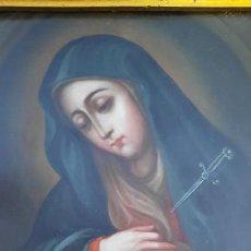 Arte: ESCUELA COLONIAL,MEXICO ,SIGLO XVIII CIRCULO NICOLAS ENRIQUEZ.OLEO SOBRE COBRE. Lote 282217073