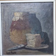 Arte: CARLOS AGUADO GÓMEZ (MADRID 1936-2001) ÓLEO. BODEGÓN. Lote 283103288