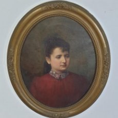 Arte: LLORENÇ CERDÀ BISBAL (MALLORCA 1862-1956) - RETRATO - ÓLEO SOBRE TELA - MARCO DE MADERA Y ESTUCO. Lote 283122493