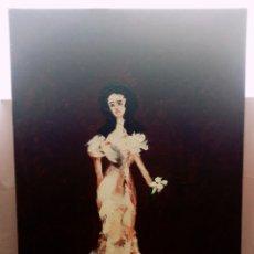 Arte: HERMOSA PINTURA VERTICAL. MUJER DEL AYER CON FLOR (4) ÓLEO SOBRE LIENZO 73CM X 54CM. Lote 283932223