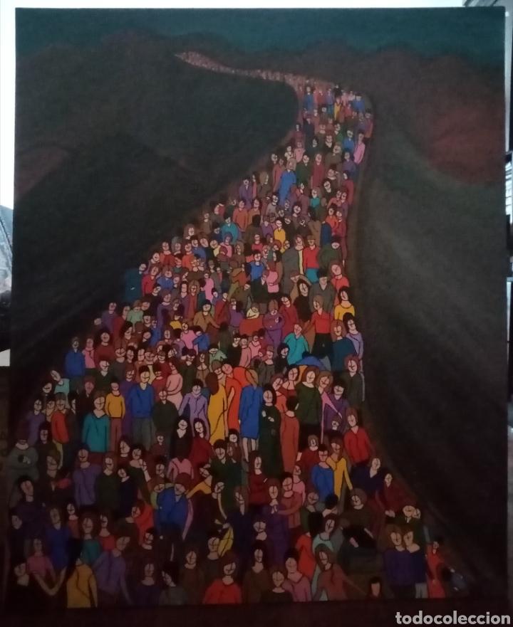 Arte: Preciosa pintura de grandes dimensiones. Camino sin medida Técnica mixta sobre lienzo Formato (3D).. - Foto 2 - 283970198