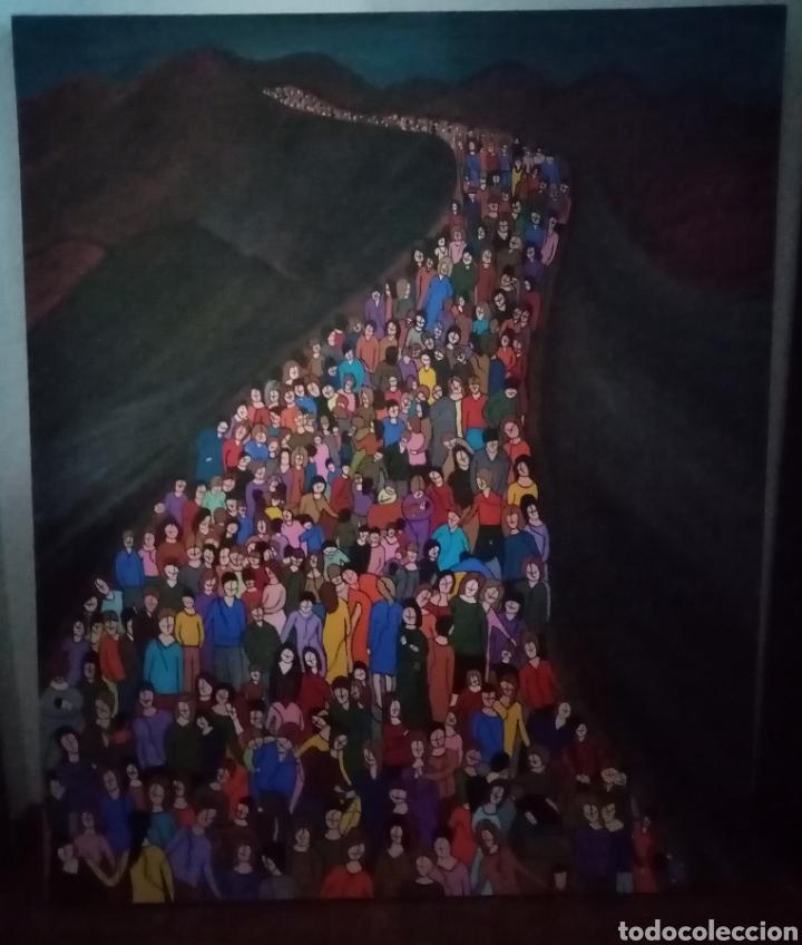 Arte: Preciosa pintura de grandes dimensiones. Camino sin medida Técnica mixta sobre lienzo Formato (3D).. - Foto 3 - 283970198