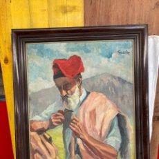 Arte: ANTIGUO Y GRAN CUADRO DE FERRER ROS 1956!. Lote 284312833