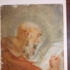 Arte: OBRA RELIGIOSA PINTADA SOBRE CRISTAL, SIGLO XVIII. Lote 284593108