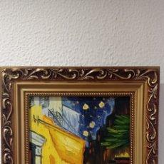 Arte: PINTURA AL OLEO. TERRAZA CAFE POR LA NOCHE.VICENT VAN GOGH. Lote 284748218