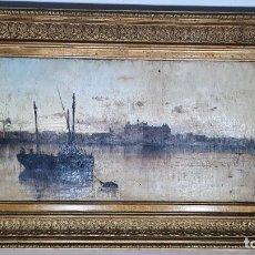 Art: PINTURA AL OLEO SOBRE LIENZO JOSE ROGER Y ALBA ,FECHADA EN PALMA 1888. Lote 285035988