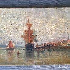 Arte: ÓLEO SOBRE LIENZO FIRMADO G. R. - ROUEN , FRANCIA 1896 19 TH. S.XIX. Lote 285062908