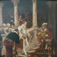 Arte: EDUARDO ZAMACOIS ZABALA (BILBAO 1841 - MADRID 1871) ? ÓLEO / TABLA FIRMA APÓCRIFA EXCELENTE CALIDAD. Lote 285131588