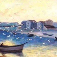 Arte: M. GARAY BILBAO 1879 - 1942 ESCENA DE PLAYA CON GAVIOTAS.. Lote 285155828