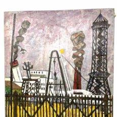 Arte: EXCEPCIONAL CUADRO OLEO SOBRE TELA - BARCOS - (AUTOR JORGE CURÓS) AÑO 1956. Lote 285252063