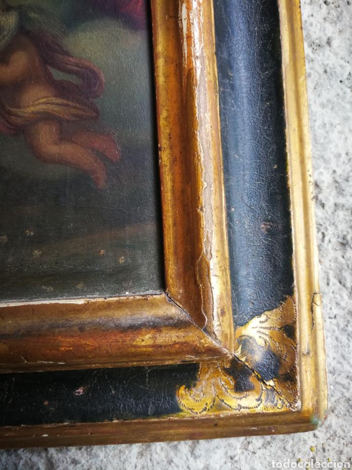 Arte: INCREÍBLE ÓLEO ESCUELA ESPAÑOLA S.XVIII SOBRE COBRE STA.ROSALÍA, PROPIEDAD BISBE BARCELONA (1735). - Foto 3 - 285279888