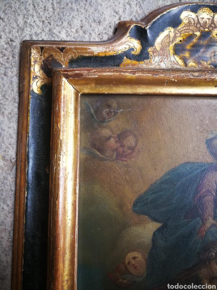Arte: INCREÍBLE ÓLEO ESCUELA ESPAÑOLA S.XVIII SOBRE COBRE STA.ROSALÍA, PROPIEDAD BISBE BARCELONA (1735). - Foto 5 - 285279888