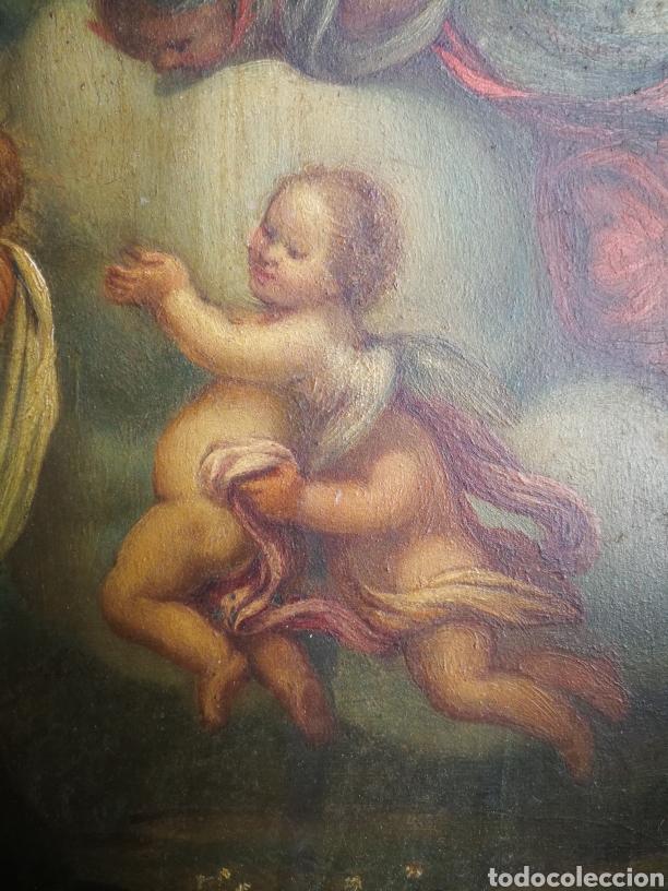 Arte: INCREÍBLE ÓLEO ESCUELA ESPAÑOLA S.XVIII SOBRE COBRE STA.ROSALÍA, PROPIEDAD BISBE BARCELONA (1735). - Foto 8 - 285279888