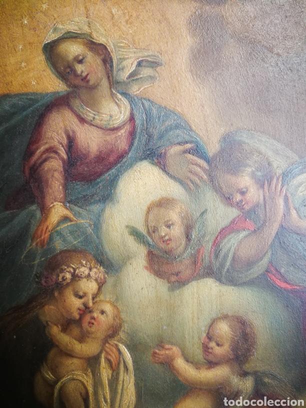 Arte: INCREÍBLE ÓLEO ESCUELA ESPAÑOLA S.XVIII SOBRE COBRE STA.ROSALÍA, PROPIEDAD BISBE BARCELONA (1735). - Foto 10 - 285279888
