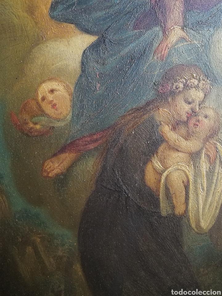 Arte: INCREÍBLE ÓLEO ESCUELA ESPAÑOLA S.XVIII SOBRE COBRE STA.ROSALÍA, PROPIEDAD BISBE BARCELONA (1735). - Foto 12 - 285279888