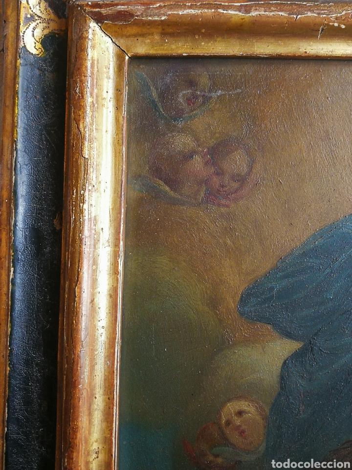 Arte: INCREÍBLE ÓLEO ESCUELA ESPAÑOLA S.XVIII SOBRE COBRE STA.ROSALÍA, PROPIEDAD BISBE BARCELONA (1735). - Foto 13 - 285279888