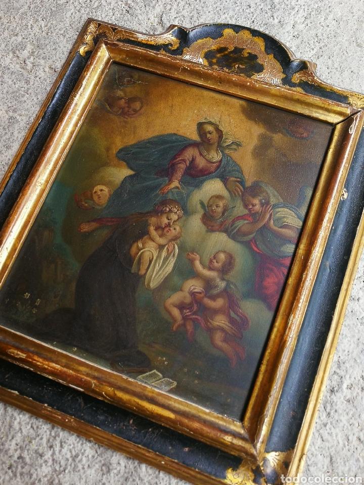 Arte: INCREÍBLE ÓLEO ESCUELA ESPAÑOLA S.XVIII SOBRE COBRE STA.ROSALÍA, PROPIEDAD BISBE BARCELONA (1735). - Foto 14 - 285279888