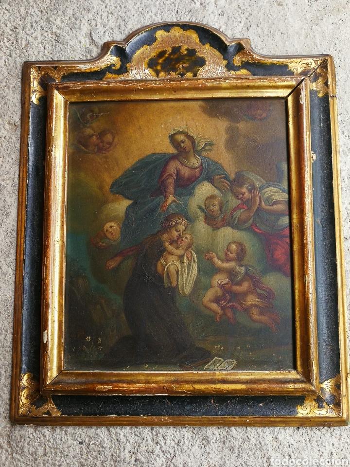 Arte: INCREÍBLE ÓLEO ESCUELA ESPAÑOLA S.XVIII SOBRE COBRE STA.ROSALÍA, PROPIEDAD BISBE BARCELONA (1735). - Foto 19 - 285279888