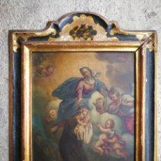 Arte: INCREÍBLE ÓLEO ESCUELA ESPAÑOLA S.XVIII SOBRE COBRE STA.ROSALÍA, PROPIEDAD BISBE BARCELONA (1735).. Lote 285279888