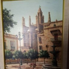 Arte: PRECIOSA PINTURA DE LA IGLESIA DE SANTIAGO DE JEREZ DE LA FRO.. Lote 285289803