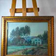Arte: JOSEP VICENÇ SOLA ANDREU (1887-1960) - PAISAJE - OLEO SOBRE TABLA. Lote 285393463