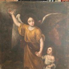 Arte: ESCUELA SEVILLANA SIGLO XVII - ANGEL DE LA GUARDA - OLEO SOBRE LIENZO - 118X93 CM. Lote 285549608
