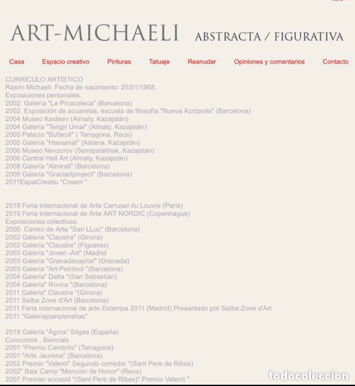 Arte: Precioso óleo sobre madera firmado y confirmado por el famoso pintor RASIM MICHAELI .(137x42cm) - Foto 2 - 285627463