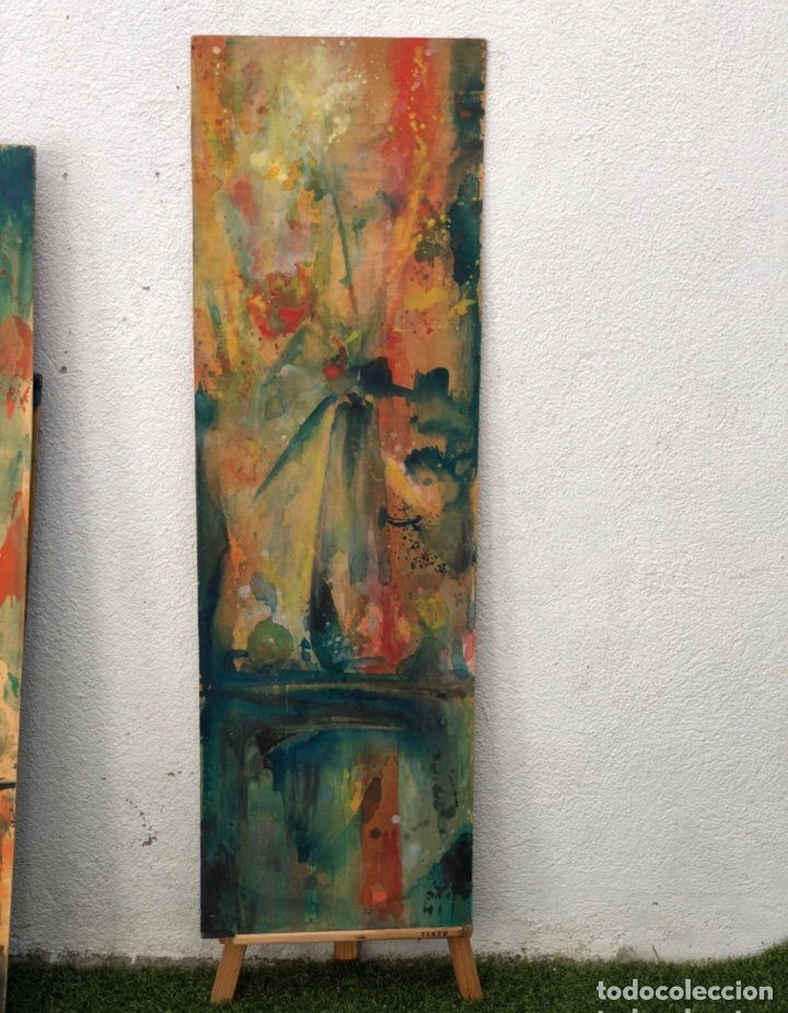 PRECIOSO ÓLEO SOBRE MADERA FIRMADO Y CONFIRMADO POR EL FAMOSO PINTOR RASIM MICHAELI .(137X42CM) (Arte - Pintura - Pintura al Óleo Moderna sin fecha definida)