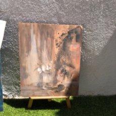 Arte: PRECIOSO ÓLEO SOBRE MADERA FIRMADO Y CONFIRMADO POR EL FAMOSO PINTOR RASIM MICHAELI . 66 × 54 CM. Lote 285637488