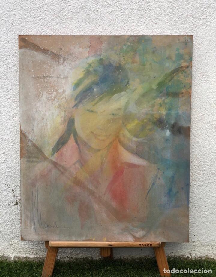 Arte: Precioso óleo sobre madera firmado y confirmado por el famoso pintor RASIM MICHAELI . (64x54cm) - Foto 3 - 285637693