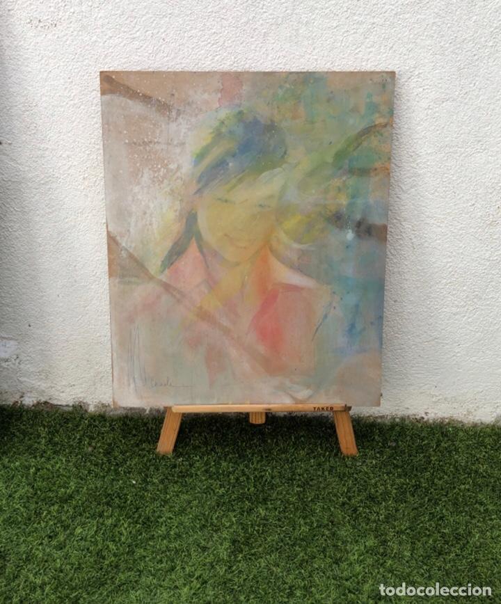 PRECIOSO ÓLEO SOBRE MADERA FIRMADO Y CONFIRMADO POR EL FAMOSO PINTOR RASIM MICHAELI . (64X54CM) (Arte - Pintura - Pintura al Óleo Moderna sin fecha definida)