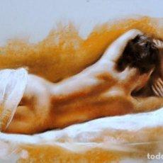 Arte: DOMINGO ALVAREZ BARCELONA 1942 PASTEL DESNUDO. Lote 286301678