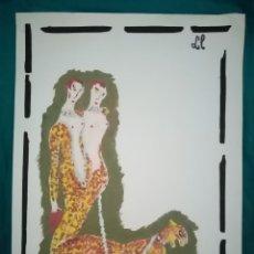 """Arte: PECULIAR PINTURA INTERPRETACIÓN DE LA LETRA """"LL"""". ÓLEO SOBRE PAPEL ESPECIAL DE DIBUJO 41,5CMX29,5CM. Lote 286313938"""