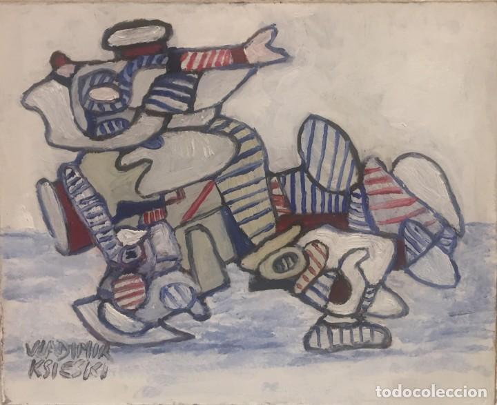 HOMBRE TRES COLORS (Arte - Pintura Directa del Autor)