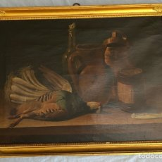 Arte: BODEGÓN DE LA PERDIZ. ATRIBUIDO A JOSEF LÓPEZ ENGUINADOS. 1806.. Lote 286422198
