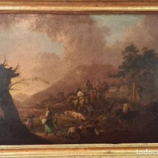 Arte: ESCENA CAMPESTRE. ANONIMO. ÓLEO SOBRE LIENZO. ESCUELA ITALIANA. SIGLO XVIII-XIX.. Lote 286423108