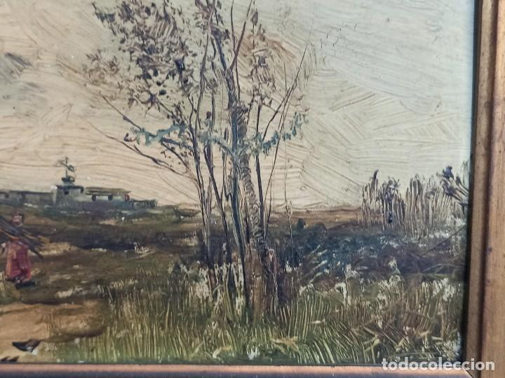 Arte: Bella pareja de óleos sobre tabla. Paisajes. Of - Foto 3 - 286429158