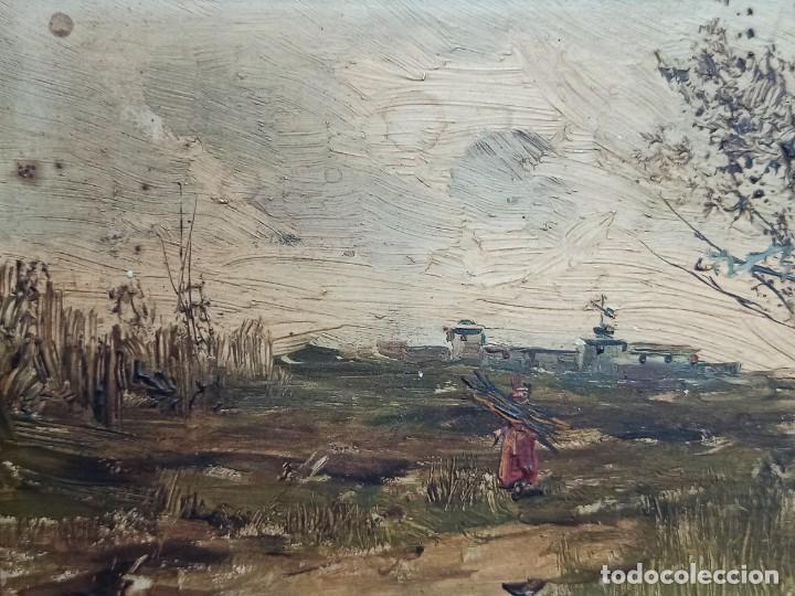 Arte: Bella pareja de óleos sobre tabla. Paisajes. Of - Foto 4 - 286429158
