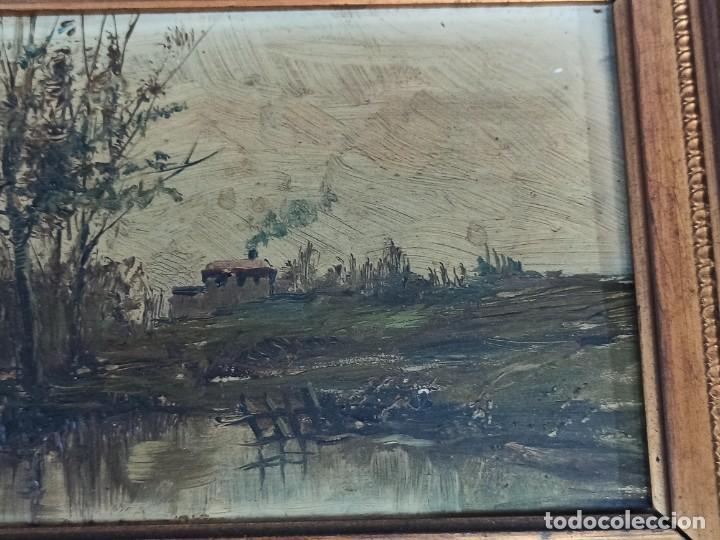 Arte: Bella pareja de óleos sobre tabla. Paisajes. Of - Foto 6 - 286429158
